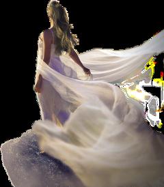 girl cliff backview pixabay freetoedit