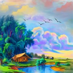freetoedit nature landscape lake lakeside