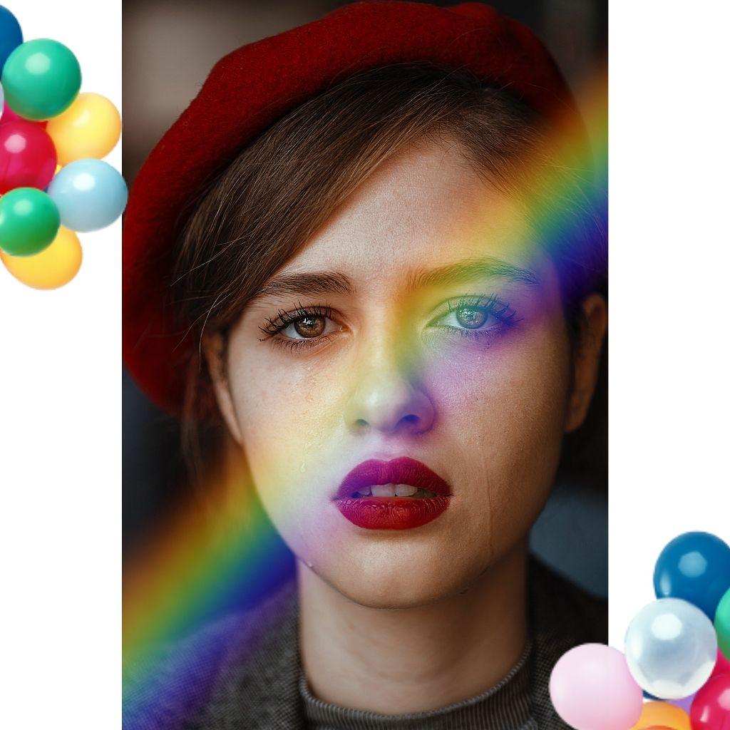 #freetoedit #girls #rainbowbrush