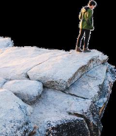 man rock standing freetoedit