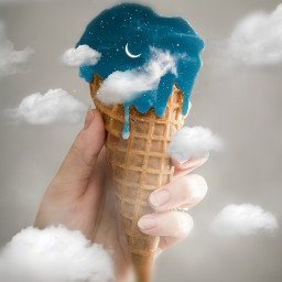 freetoedit icecream cone icecreamcone cloud