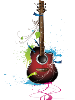 ftestickers watercolor guitar abstract colorful freetoedit