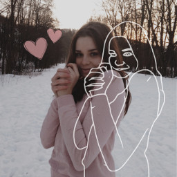 freetoedit sketch sketchedit myfriend winter