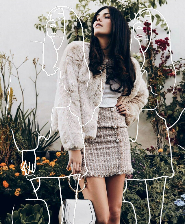 #freetoedit#girl#sketcheffect#standing#fashion