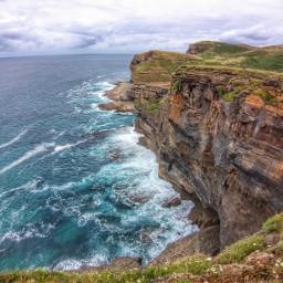coast sea mountain nature freetoedit