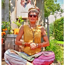 vipassana garden summer colorfull