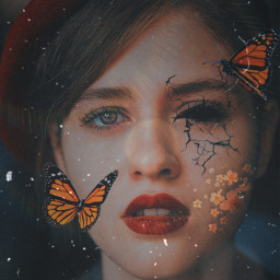freetoedit butterflies dark flower