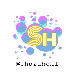 shazahom1 logo colourful design bubbles