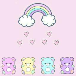 rambow arcoiris osito teddy bear freetoedit