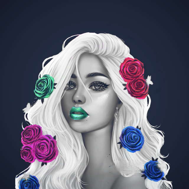 #freetoedit #art #beautiful #girl #portrait #drawing #picsart #coloursplash