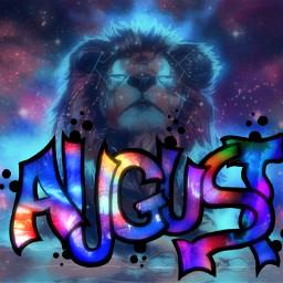 freetoedit leo lion august cosmic ircitsaugust