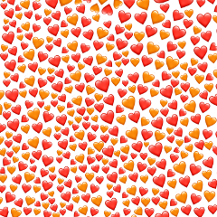 background heart red orange png freetoedit