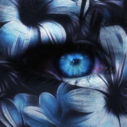 eye closeup blue edit picsart
