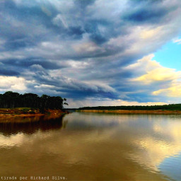 photographynature river stormclouds reflection hdreffect