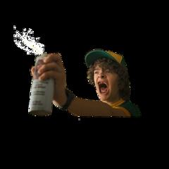spray dustin dustbin stranger things freetoedit