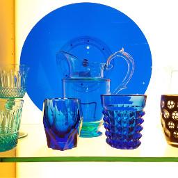 blue crystal glassware plate glasses freetoedit pcshadesofblue