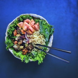 ramen salad vegetable bbq vegetables