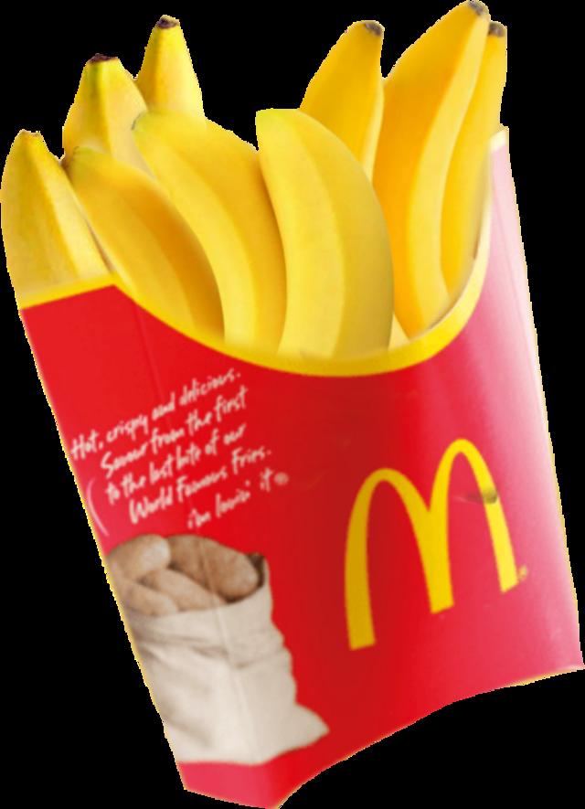 #banana #bananas #🍌 #fries #friese #mcdonalds #mcdonald #mcdonald's #freetoedit #freestickers