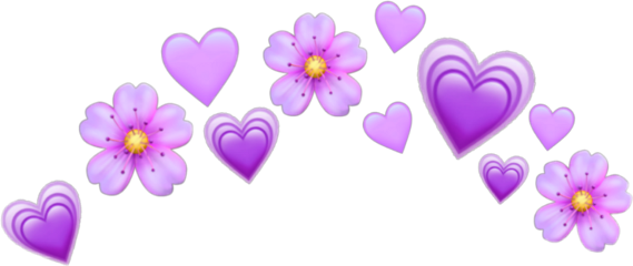 сердечки цветы наголову freetoedit