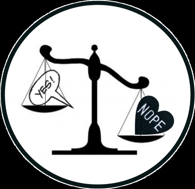 #yes #nope #balancescale @tiinamaijamkinen