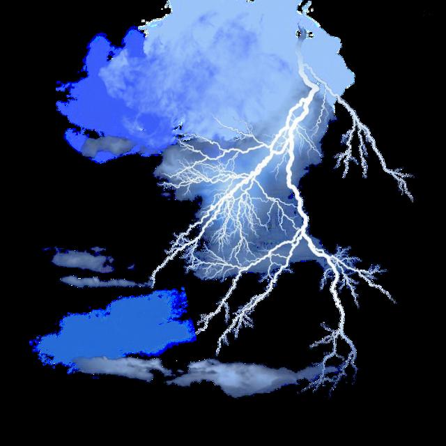 #ftestickers #sky #clouds #thunderstorm #lightning #luminous #blue