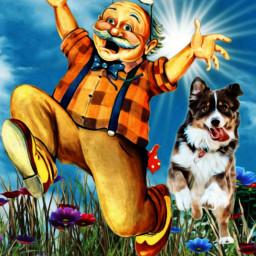 freetoedit rundoggie dog man oldman ircrundoggy