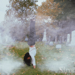handstand inversion cemetery cemeterybeauty eerie