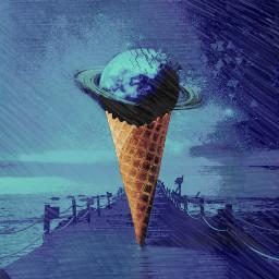 freetoedit picksart planeta artistic icecream