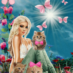 freetoedit cats cat woman kittylove irckittylove