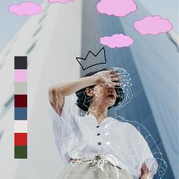 freetoedit woman cloud shy l4l