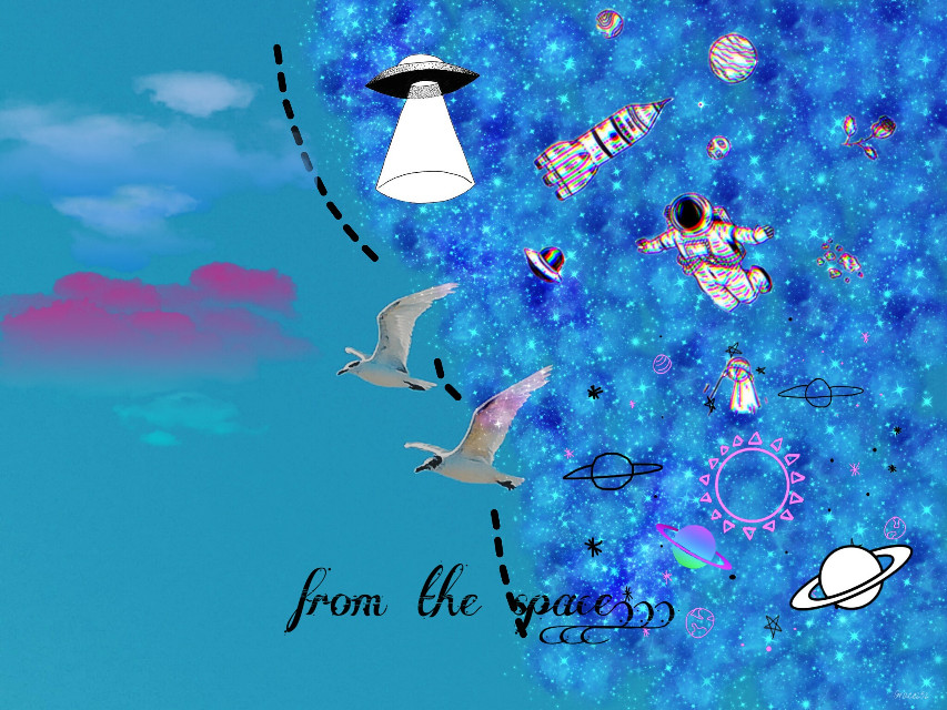 #freetoedit #comingfromthespace #spavestickers #plslikeit #spacebirds #loveit