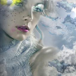 freetoedit female ethereal clouds sunshine myeditoffreetoedit