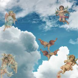 freetoedit clouds angel aestheticangel angelaesthetic ecintheclouds