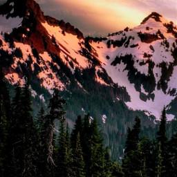 sunset mountains mountainview freetoedit