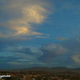 home view horizon sky mountains