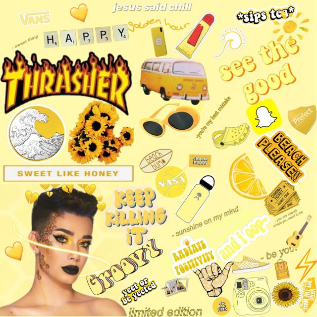 #freetoedit #yellow #collage #vsco #jamescharles