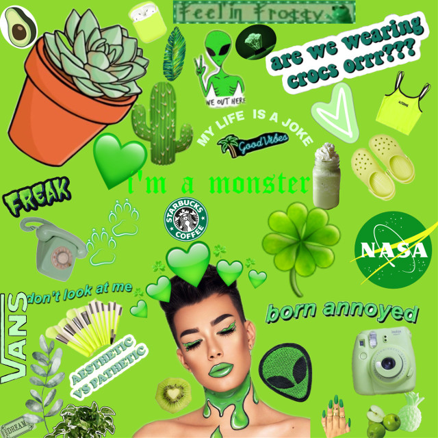 #freetoedit #green #jamescharles #vsco