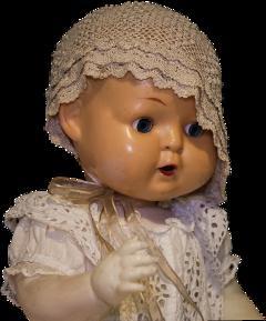 freetoedit doll antique crochet bonnet scdolls
