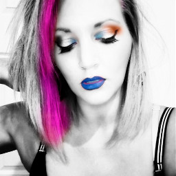 freetoedit beautyboom prettyface colorfulhair realpeople