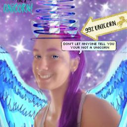 freetoedit unicorngirl❤ cute galaxyhair unicorngirl