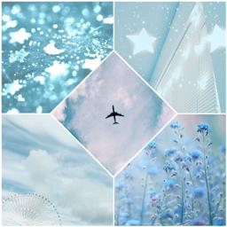 freetoedit aesthetic blue lightblue plane
