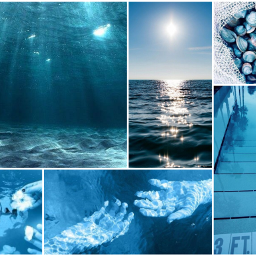 freetoedit aesthetic blue vibes water
