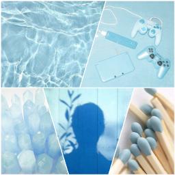 freetoedit aesthetic blue vibes