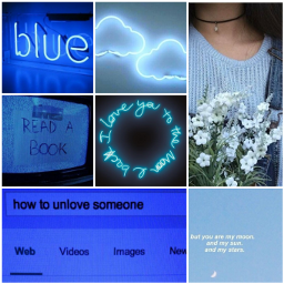 freetoedit aesthetic blue vibes lightanddark