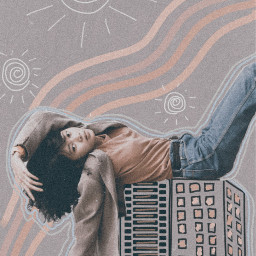 building freetoedit tumblrgirl orange noise