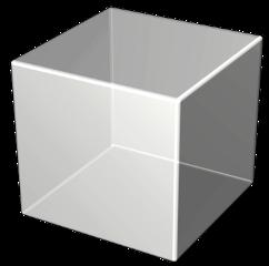3d cube white box freetoedit