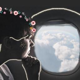 freetoedit summertime plane avion girl fille