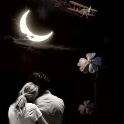 freetoedit loveyou love moon moonlight
