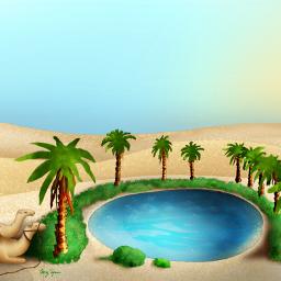 freetoedit oasis desert palmtrees water dcoasisinthedesert