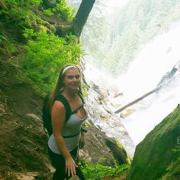 hiking hikingadventure waterfall forestadventures green